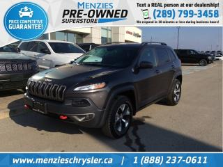 Used 2016 Jeep Cherokee Trailhawk 4x4, Navi, One Owner, Accident Free for sale in Whitby, ON