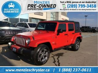 Used 2018 Jeep Wrangler JK Unlimited Sahara 4x4, Navigation, One Owner, Clean Carfax for sale in Whitby, ON
