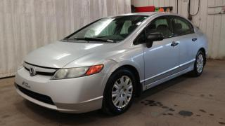 Used 2007 Honda Civic 4 portes, boîte manuelle, DX for sale in La Malbaie, QC
