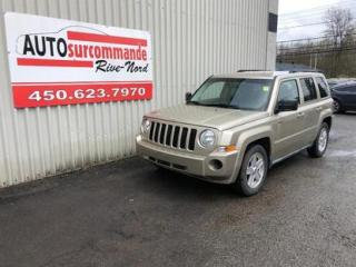 Used 2010 Jeep Patriot North -- GARANTIE 1AN / 15 000 KMS -- for sale in St-Joseph-Du-Lac, QC