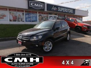 Used 2016 Volkswagen Tiguan Comfortline  AWD NAV ROOF CAM HS for sale in St. Catharines, ON