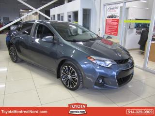 Used 2015 Toyota Corolla S Manuelle A/C CUIR TOIT MAGS CAM RECUL for sale in Montréal-Nord, QC