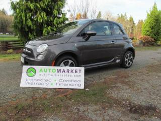 Used 2017 Fiat 500 FULL ELECTRIC, NAVIGATION, LEATHER, INSP, WARR, FINANCE! for sale in Surrey, BC
