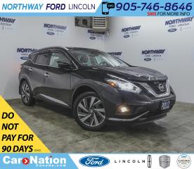 Used 2017 Nissan Murano Platinum | AWD | NAV | HTD LEATHER | PANOROOF | for sale in Brantford, ON
