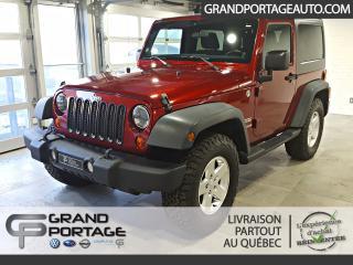Used 2011 Jeep Wrangler 4 RM 2 portes Sport **Air climatisé** for sale in Rivière-Du-Loup, QC