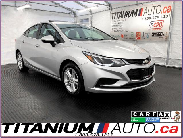 2016 Chevrolet Cruze LT+Sunroof+Camera+Heated Seats+Remote Start+Apple+