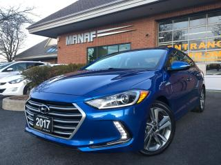 Used 2017 Hyundai Elantra Limited Avail Sunroof Navi Rear Cam Low KM Certi* for sale in Concord, ON