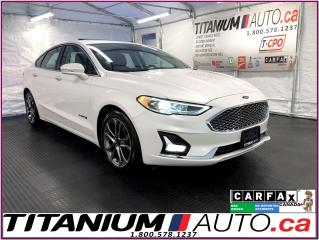 Used 2019 Ford Fusion Hybrid Titanium+GPS+Blind Spot+Lane Assist+Cooled Leather for sale in London, ON