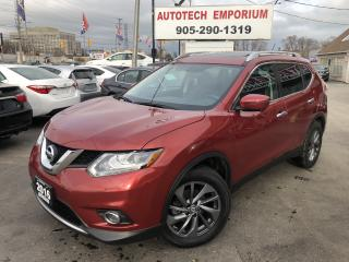 Used 2016 Nissan Rogue SL AWD Technology Pkg Navi/Leather/Pano Roof/Blind Spot for sale in Mississauga, ON