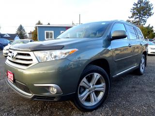 Used 2013 Toyota Highlander V6 4WD Navigation Leather Sunroof Bluetooth Certified for sale in Guelph, ON