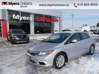 Used 2012 Honda Civic Sedan EX  - Sunroof -  Bluetooth - $82 B/W for sale in Orleans, ON