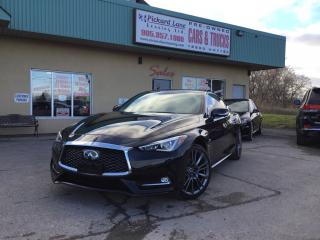Used 2017 Infiniti Q60 3.0T Q60 S||FULLY LOADED||CERTIFIED!! for sale in Bolton, ON