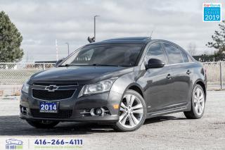Used 2014 Chevrolet Cruze RS-2LT Leather/Sunroof/RearCam Certified WeFinance for sale in Bolton, ON