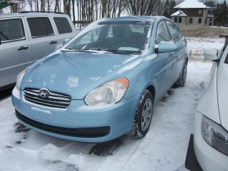 Used 2008 Hyundai Accent Berline 4 portes, for sale in St-Sulpice, QC