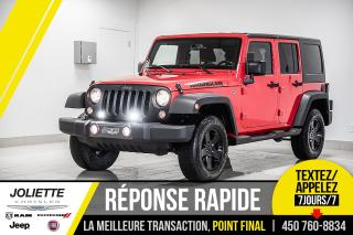 Used 2016 Jeep Wrangler Sport, 2 TOITS, BLUETOOTH, DÉMARREUR À DISTANCE!! for sale in Joliette, QC