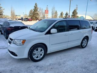 Used 2017 Dodge Grand Caravan CREW PLUS; 7PASS, LEATHER, BACKUP CAM, HEATED SEATS/WHEEL AND MORE for sale in Edmonton, AB