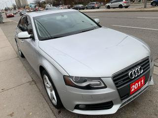 Used 2011 Audi A4 BK UP CAM-AUX-LEATHER-SUNROOF-ALLOYS- LOADED! for sale in Scarborough, ON