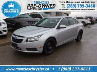 Used 2012 Chevrolet Cruze LT Turbo, Hands-Free Comm, Sirius, Clean Carfax for sale in Whitby, ON
