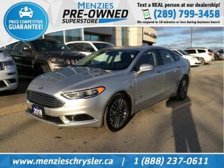 Used 2018 Ford Fusion Energi SE, Sunroof, Navi, Cam, Leather, Clean Carfax for sale in Whitby, ON