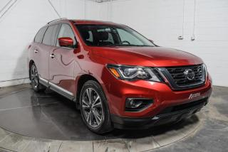 Used 2017 Nissan Pathfinder PLATINUM AWD CUIR TOIT PANO NAV TV/DVD for sale in St-Constant, QC