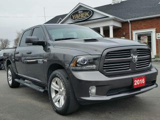 Used 2016 RAM 1500 Sport 4x4, Leather Heated/Vented Seats, NAV, Sunroof, Back Up Cam/Sensors for sale in Paris, ON