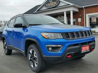 Used 2018 Jeep Compass Trailhawk 4x4, Heated Seats/Wheel, NAV, Remote Start, Back Up Cam for sale in Paris, ON