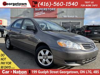 Used 2004 Toyota Corolla LE | LOW KM | A/C | POWER OPTIONS|WELL MAINTAINED for sale in Georgetown, ON