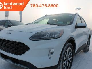 New 2020 Ford Escape Titanium Pkg 401A 2.0L Ecoboost AWD 8-Spd, Panoramic Vista Roof, Heated Steering Wheel, Navigation, Pre-Collision Assist, Keyless Entry, Remote Start, Reverse Camera System, Reverse Sensing System. for sale in Edmonton, AB