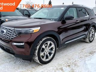 New 2020 Ford Explorer Platinum 600A 3.0L Ecoboost V6 4WD, Active Park Assist, Heated Steering Wheel, Lane Keeping System, Pre- Collision Assist, Remote Start, Keyless Entry, Reverse Camera System, Navigation. for sale in Edmonton, AB