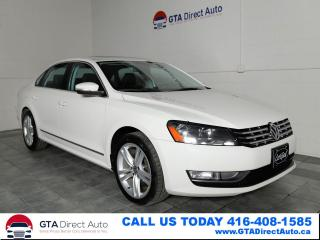 Used 2013 Volkswagen Passat Highline TDI Nav Sun Camera Fender-Sound Certified for sale in Toronto, ON