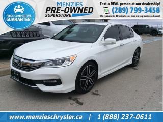 Used 2016 Honda Accord Sedan Sport, Sunroof, Cam, Bluetooth, One Owner for sale in Whitby, ON