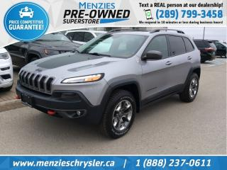 Used 2016 Jeep Cherokee Trailhawk 4x4, Pano Roof, Navi, One Owner for sale in Whitby, ON