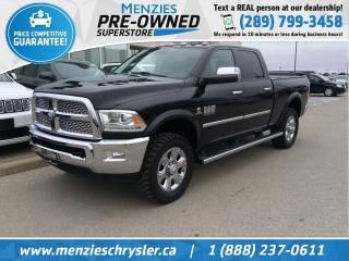 Used 2016 RAM 2500 Laramie Cummins Diesel, One Owner, Clean Carfax for sale in Whitby, ON