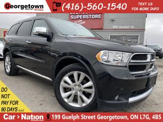 Used 2011 Dodge Durango CREW | AWD | LEATHER | SUNROOF | CAMERA | V8 | for sale in Georgetown, ON