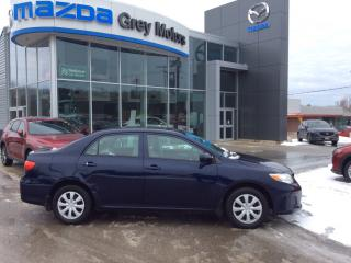 Used 2013 Toyota Corolla CE for sale in Owen Sound, ON