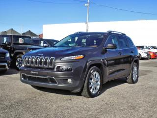 Used 2016 Jeep Cherokee LIMITED 4X4 *V6*CUIR*TOIT*GPS* for sale in Brossard, QC