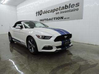 Used 2017 Ford Mustang V6 DÉCAPOTABLE CAMÉRA RECUL DÉM. À DISTANCE for sale in St-François-Du-Lac, QC