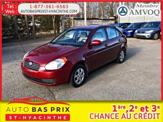 Used 2009 Hyundai Accent L manuel/l automatique/gl manuel/boîte automatique gl/Édition 25e anniversaire automatique/gls auto. for sale in St-Hyacinthe, QC