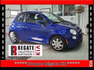 Used 2012 Fiat 500 Sport Pneu d'hivers / JAMAIS ACCIDENTÉ for sale in Salaberry-de-Valleyfield, QC