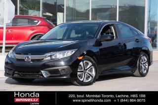 Used 2016 Honda Civic LX AUTO HONDA SENSING BAS KM AUTO AC CRUISE BLUETOOTH HONDA SENSING++ for sale in Lachine, QC