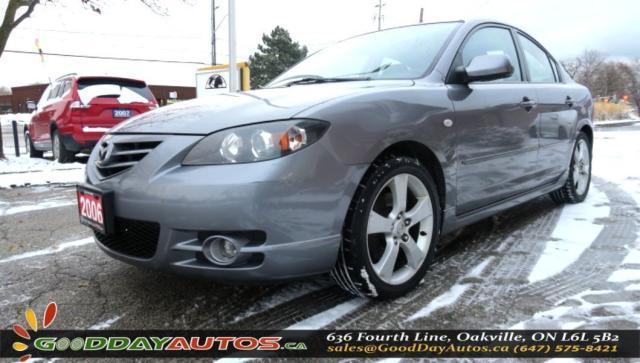 2006 Mazda MAZDA3 GT|LOW KM|NO ACCIDENT|SUNROOF|2YR WARRANTY|CERT.