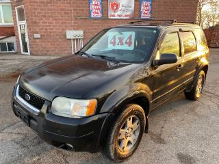 Used 2004 Ford Escape Limited/4X4/SUNROOF/LEATHER for sale in Cambridge, ON