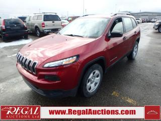 Used 2016 Jeep Cherokee Sport 4D Utility 4WD 3.2L for sale in Calgary, AB