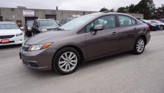 Used 2012 Honda Civic LX AUTO CERTIFIED 2YR WARRANTY *FREE ACCIDENT* SUNROOF BLUETOOTH CRUISE for sale in Milton, ON