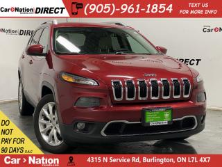 Used 2017 Jeep Cherokee Limited| LEATHER| NAVI| LOCAL TRADE| for sale in Burlington, ON