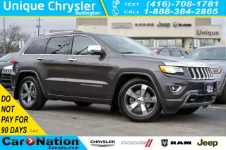Used 2014 Jeep Grand Cherokee OVERLAND| ADVANCED TECHNOLOGY GRP| QUADRA DRIVE II for sale in Burlington, ON