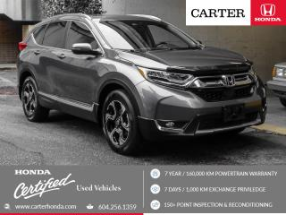 Used 2017 Honda CR-V Touring + CERTIFIED + 7 YEAR/160000KM for sale in Vancouver, BC