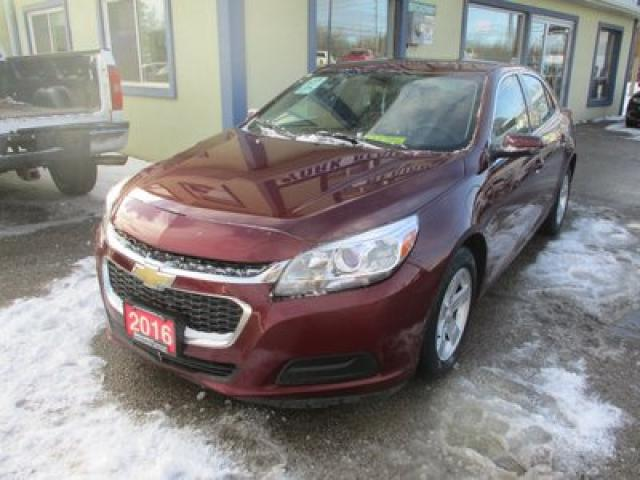 2016 Chevrolet Malibu LIKE NEW LT EDITION 5 PASSENGER 2.5L - ECO-TEC.. LEATHER TRIM.. AUX/USB INPUT.. BLUETOOTH SYSTEM.. KEYLESS ENTRY..