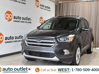 Used 2017 Ford Escape Titanium, 2.0L I4, 4wd, Navigation, Heated leather seats, Heated steering wheel, Vista roof, Backup camera, Bluetooth for sale in Edmonton, AB