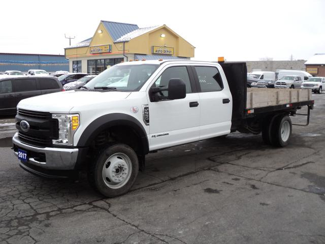 "2017 Ford F-550 XL CrewCab Chassis 4x4 Diesel DRW 12'""FlatBed"